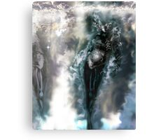 Machine Nightmare {Silver} [ Fantasy Figure Illustration ] Canvas Print