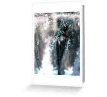 Machine Nightmare {Silver} [ Fantasy Figure Illustration ] Greeting Card