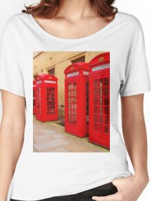 London Telephone Boxes Women's Relaxed Fit T-Shirt