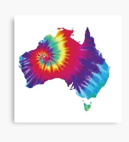 Australia Tie Dye Canvas Print