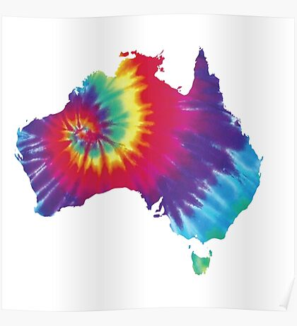 Australia Tie Dye Poster