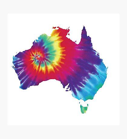 Australia Tie Dye Photographic Print