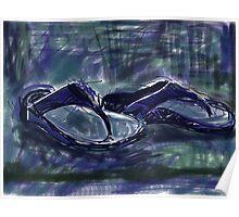 Blue fit flops Poster