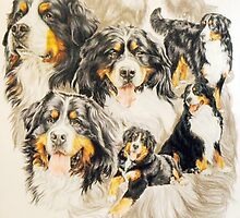 Bernese Mountain Dog w/Ghost by BarbBarcikKeith