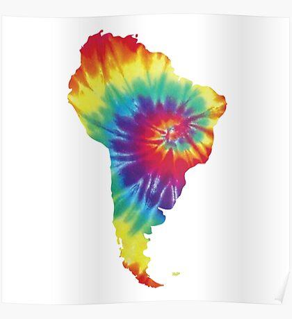 South America- Tie Dye Poster
