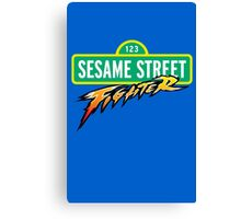 Sesame Street Fighter Canvas Print