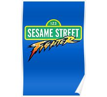 Sesame Street Fighter Poster
