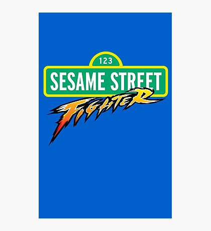 Sesame Street Fighter Photographic Print