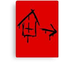 Left 4 Dead - Safehouse [black] Canvas Print