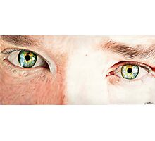 Benedict Cumberbatch's eyes Photographic Print
