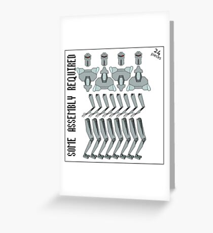 Some Assembly Required Greeting Card