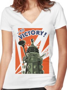 Dalek Victory Women's Fitted V-Neck T-Shirt