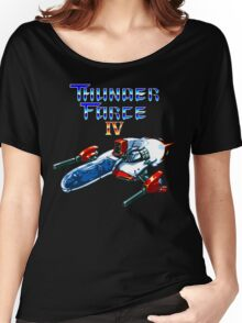 Thunder Force IV (Mega Drive Title Screen) Women's Relaxed Fit T-Shirt