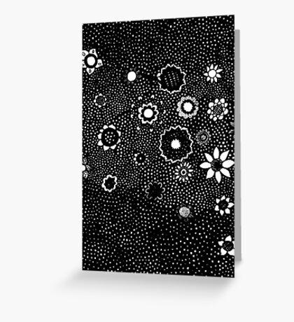 Flower Rain Greeting Card