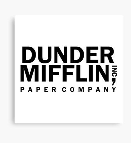 dunder mifflin logo  Canvas Print