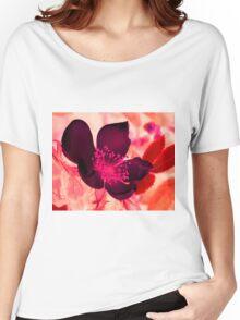Mocha Blossom Women's Relaxed Fit T-Shirt