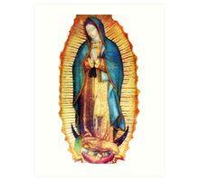 Our Lady of Guadalupe Virgin Mary Tilma Art Print