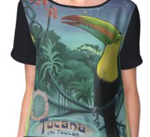 Toucan in Rainforest Constellation Tucana in Art Nouveau Style Chiffon Top
