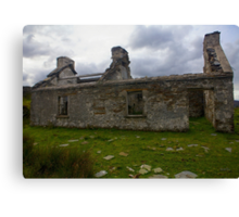 Ruined Cottage at Cashelnagor, County Donegal, Ireland Canvas Print