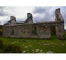 Ruined Cottage at Cashelnagor, County Donegal, Ireland Photographic Print
