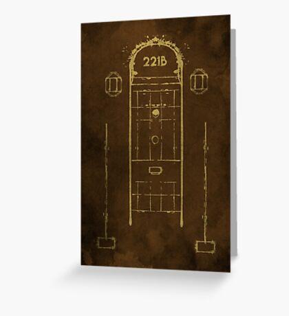 Sherlock, Front Door of 221B Baker Street (Colour) Greeting Card