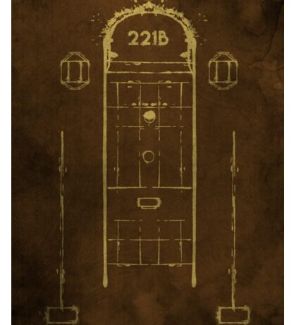Sherlock, Front Door of 221B Baker Street (Colour) Sticker