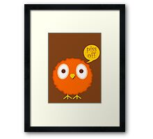 Foul-mouthed bird Framed Print
