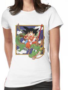 Goku, Kinto-un and Sheron Womens Fitted T-Shirt