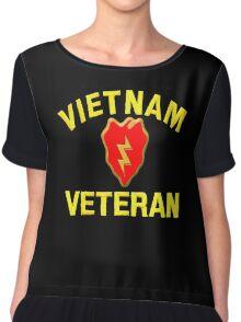 25th Infantry Div. Vietnam Veteran T-shirt Chiffon Top