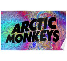 Psychedelic Arctic Monkeys Poster