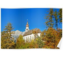 Pilgrimage church  St. Anthony in Rietz Austria Poster