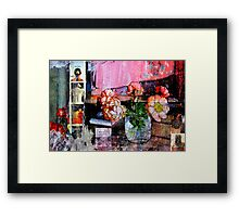 ONLY THE FLOWERS Framed Print