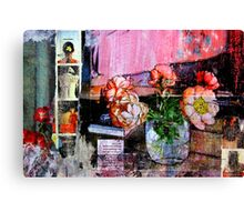ONLY THE FLOWERS Canvas Print