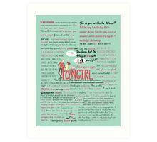 Fangirl + Quotes Art Print