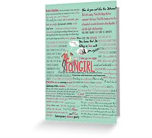 Fangirl + Quotes Greeting Card