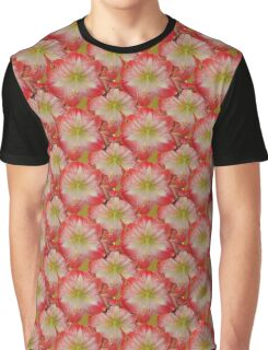 Natural Blooming Flowers -  Hot Pink Amaryllis Graphic T-Shirt