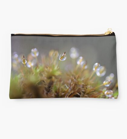 Water droplets on moss - 2016 Studio Pouch