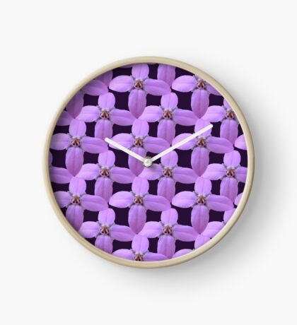 Natural Blooming Flowers - Violet Bornoias Clock