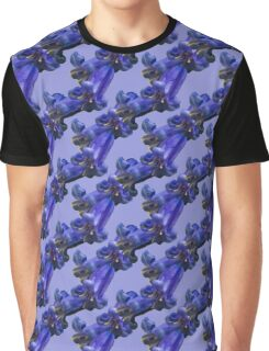 Natural Blooming Flowers - Purple Bluebells Graphic T-Shirt
