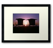 Life Guard Towers Framed Print