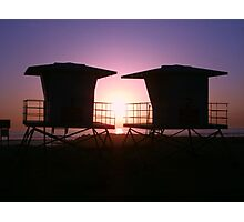 Life Guard Towers Photographic Print