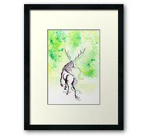 Elemental Earth Qilin Framed Print