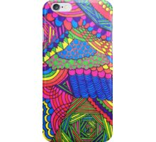 Colorful Geometric Patterned Line Drawing iPhone Case/Skin