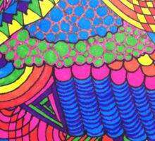 Colorful Geometric Patterned Line Drawing Sticker