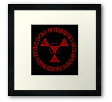 Digital Hazard Symbol Framed Print