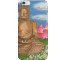 Buddha & Lotus Painting iPhone Case/Skin