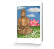 Buddha & Lotus Painting Greeting Card
