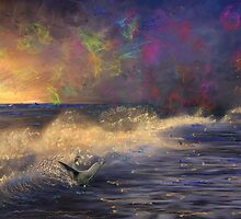 Evening Fun for a Sea Lion by Angela Stanton