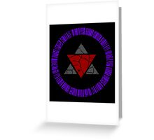 Zero Unit Symbol Greeting Card