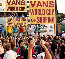 The 2011 VANS World Cup of Surfing trophy goes to John John Florence. by Alex Preiss